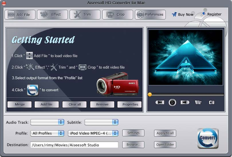 iPhone 4 HD Video Converter for Mac Screenshot Screenshot