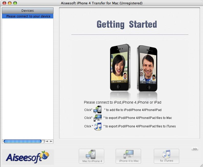 iPhone 4 Tranfer for Mac Screenshot Screenshot