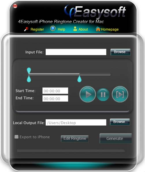 iPhone Ringtone Creator for Mac Screenshot Screenshot