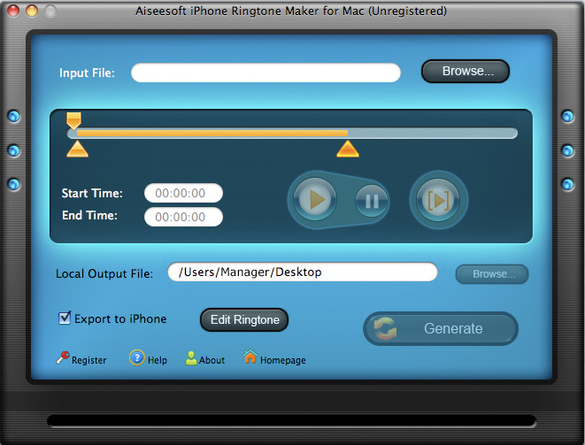 M4R Ringtone Maker for Mac Screenshot Screenshot